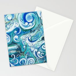 Shark wave Stationery Cards