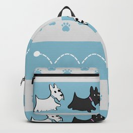Scotties Pattern Backpack