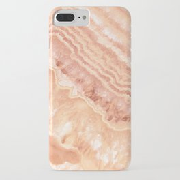 Champagne onyx marble iPhone Case