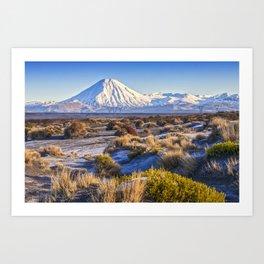 Mount Ngauruhoe, New Zealand Art Print