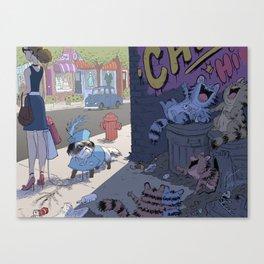 """Laughing Furball"" Canvas Print"