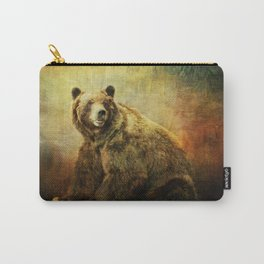 Grizzly Bear in Morning Sun Carry-All Pouch