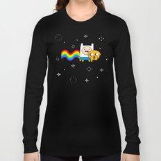 Nyan Time: Adventure Time plus Nyan Cat Long Sleeve T-shirt