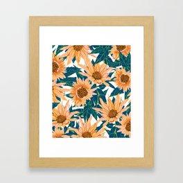 Blush Sunflowers Framed Art Print