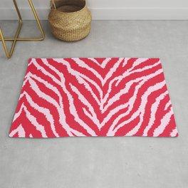 Red zebra fur texture Rug