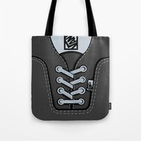 vans Tote Bags featuring Black Gray Vans shoes iPhone 4 4s 5 5s 5c, ipod, ipad, pillow case and tshirt by Three Second