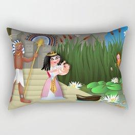 Baby Moses & the Egyptian Princess Rectangular Pillow