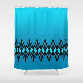 Art Deco Turquoise Pattern Shower Curtain