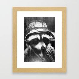 Raccoon of Fortune Framed Art Print