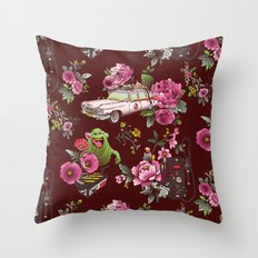 Ecto Floral Throw Pillow