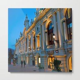 Romantic Evening Stoll in Monte-Carlo Monaco Metal Print