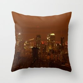 Montreal City by night Throw Pillow