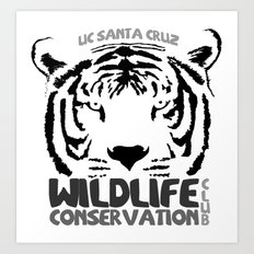 Wildlife Conservation Club B&W Art Print