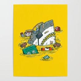 Safety Third Shark Poster