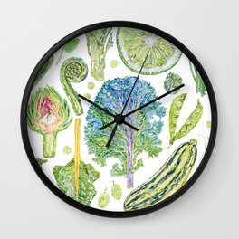 Harvest of Green Wall Clock