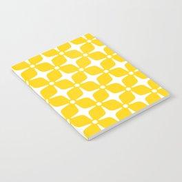 Mid Century Modern Star Pattern Yellow 2 Notebook