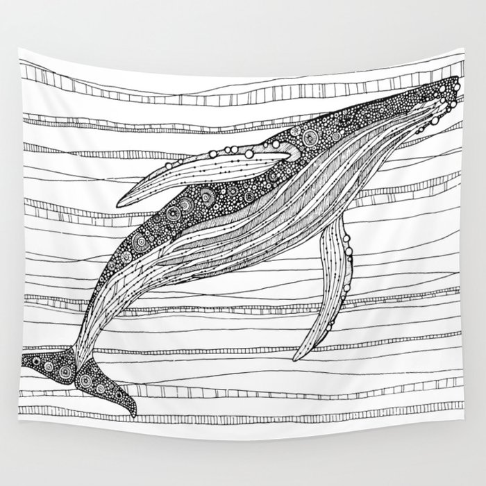 Humpback Whale Wall Tapestry