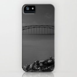 Julian Dubuque Bridge and the Mississippi River iPhone Case
