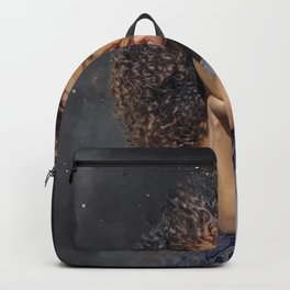 Girl with curls Backpack