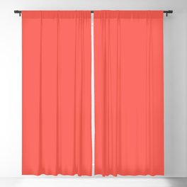From The Crayon Box – Sunset Orange - Bright Orange Solid Color Blackout Curtain