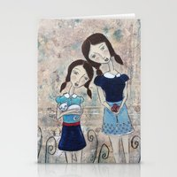 sisters Stationery Cards featuring Sisters by Allison Weeks Thomas