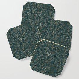 Botanical Pattern - Bronze N7 Coaster
