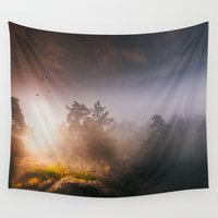mythology Wall Tapestries featuring Cleansing by HappyMelvin