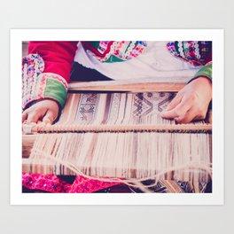 Peru Weaving Fine Art Print  • Travel Photography • Wall Art Art Print