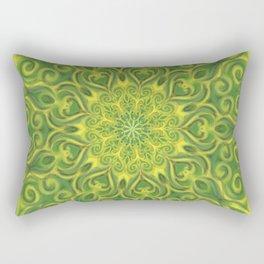 green center swirl mandala Rectangular Pillow