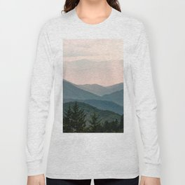Smoky Mountain Pastel Sunset Long Sleeve T-shirt