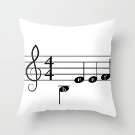 Angry Music Throw Pillow