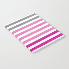 Stripes Gradient - Pink Notebook