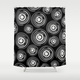 Enso Circles - Zen Circles pattern #2 Shower Curtain