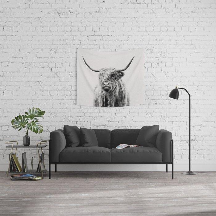 portrait of a highland cow Wandbehang