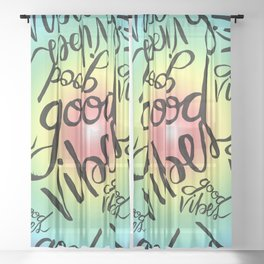 Good Vibes - Rainbow Pride Sheer Curtain