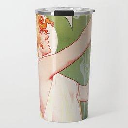 Absinthe Robette Poster- Henri Privat-Livemont Travel Mug