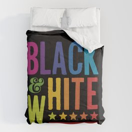 Colorful Black and White Comforters