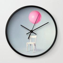 Big pink balloon Wall Clock