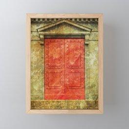 Red Doors Framed Mini Art Print