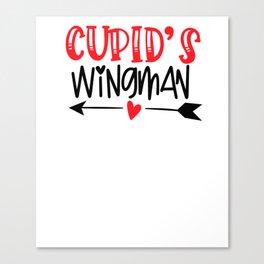 Funny Valentine Cupids WIngman Canvas Print