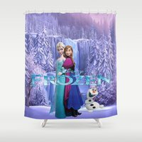 olaf Shower Curtains featuring SET GIFT ELSA ANNA OLAF by store2u