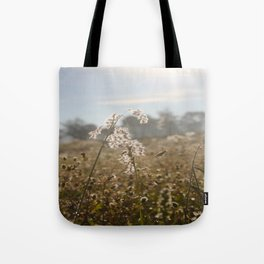 Sunrise Flower Field Tote Bag
