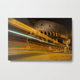 Zooming past the Colosseum Metal Print