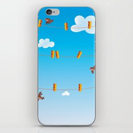 Clouds and Birds iPhone Skin
