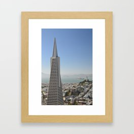 TransAmerica Building, Coit Tower and Alcatraz Framed Art Print