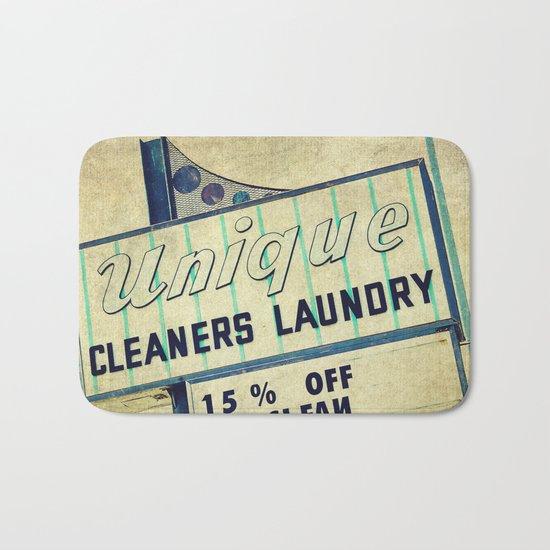 Unique Laundry Sign Bath Mat