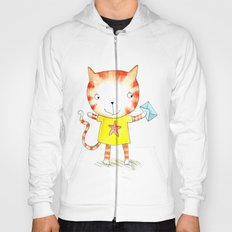 Ginger kitten watercolour Hoody