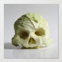 360. Skull of Cabbage Canvas Print