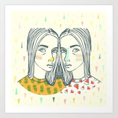 Last Sunset Twins Art Print