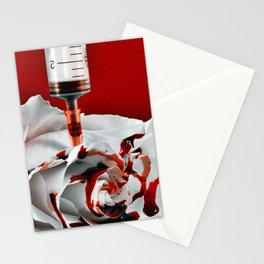 Paining a Rose Red Stationery Cards